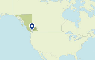 Map showing British Columbia, Canada