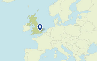 Map showing , London, United Kingdom